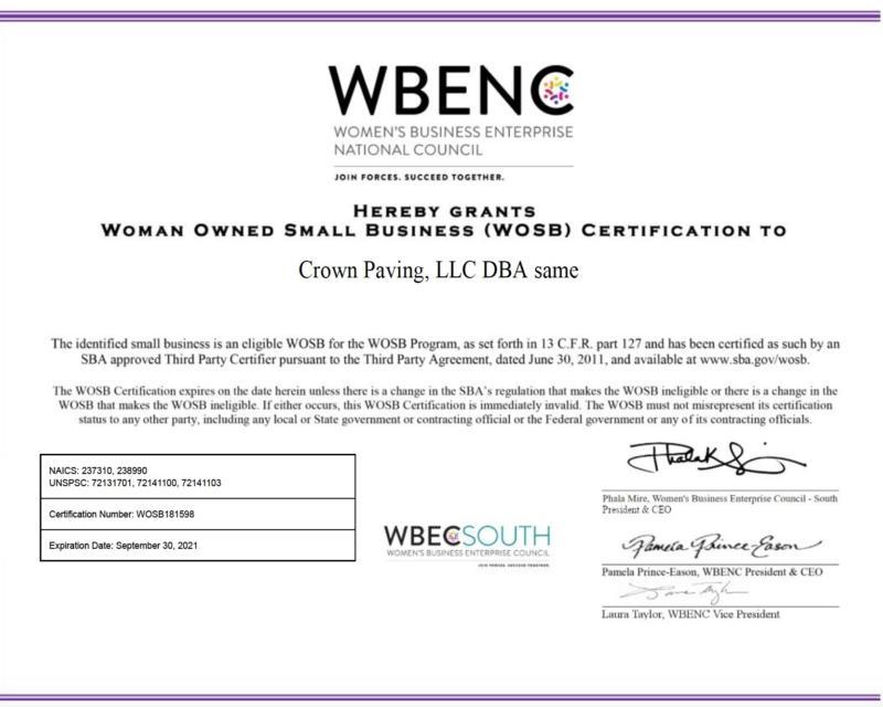 WOSB Certification